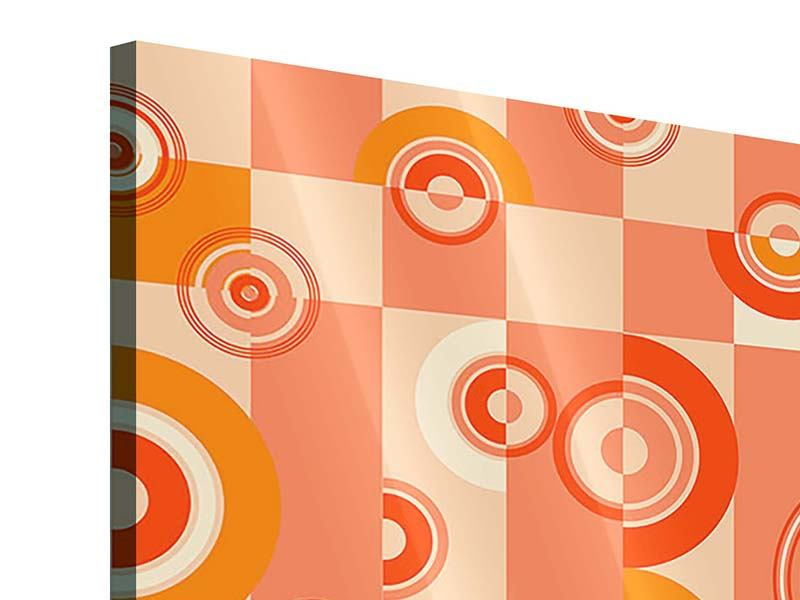 Acrylglasbild 9-teilig Bewegte Retro-Kreise