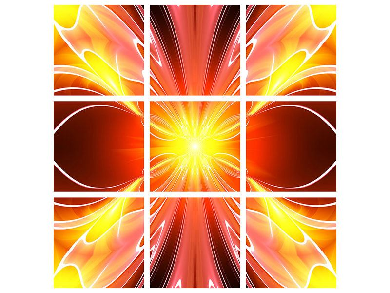 Acrylglasbild 9-teilig Abstraktes Farbenspektakel