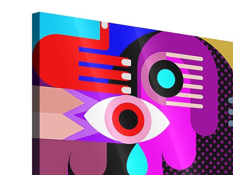 Acrylglasbild 9-teilig Moderne Kunst People