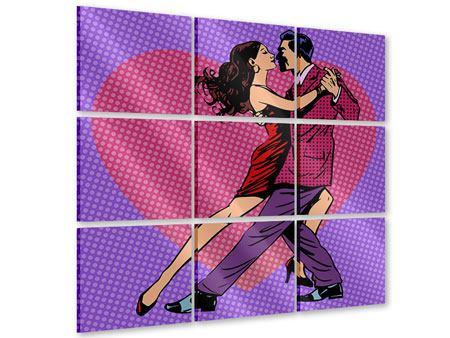 Acrylglasbild 9-teilig Pop Art Lambada
