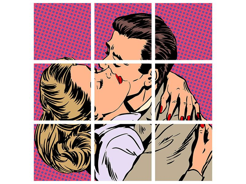 Acrylglasbild 9-teilig Pop Art Sehnsucht