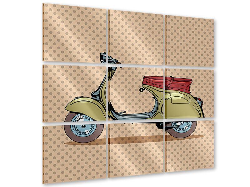 Acrylglasbild 9-teilig Vespa