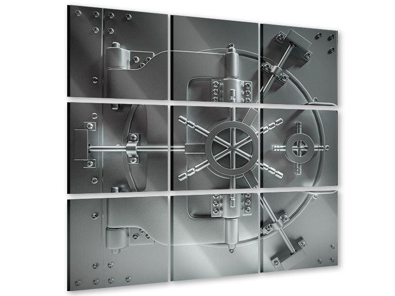 Acrylglasbild 9-teilig Tresor