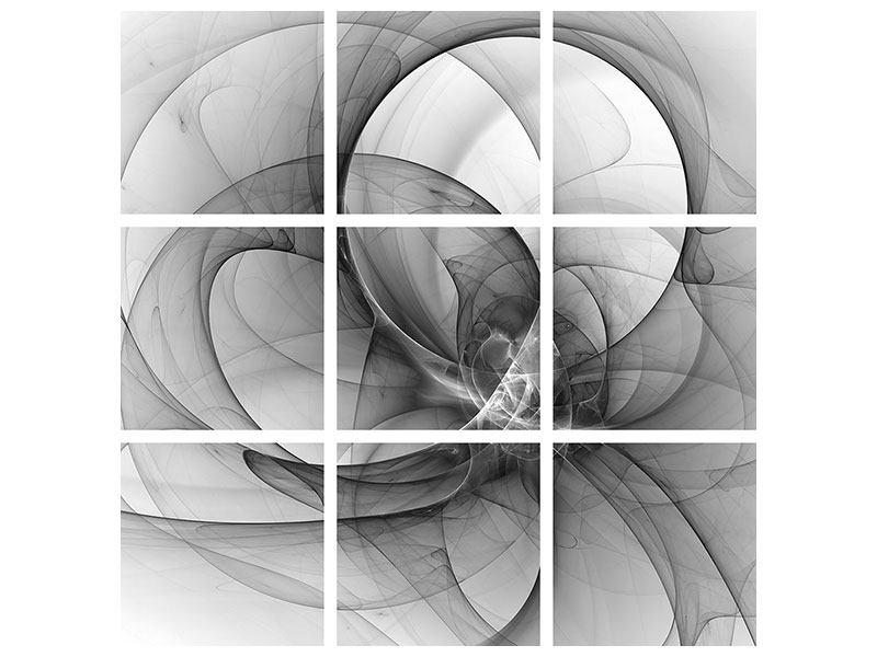 Acrylglasbild 9-teilig Abstrakte Kreisende Kreise
