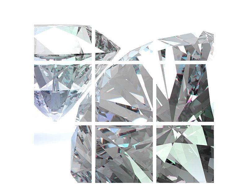 Acrylglasbild 9-teilig XXL Diamant
