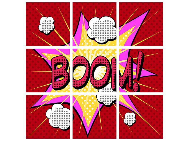 Acrylglasbild 9-teilig Pop Art Boom