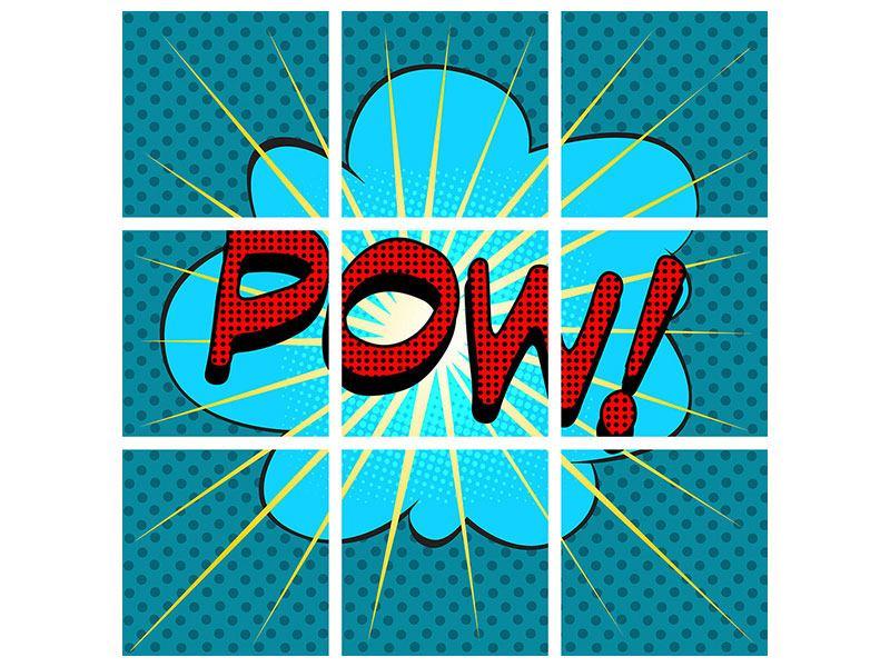 Acrylglasbild 9-teilig Pop Art Pow