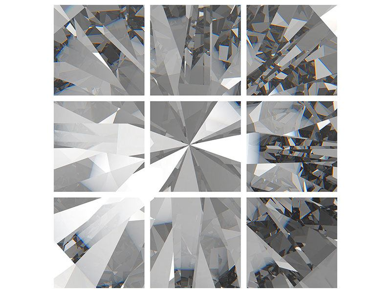 Acrylglasbild 9-teilig Riesendiamant