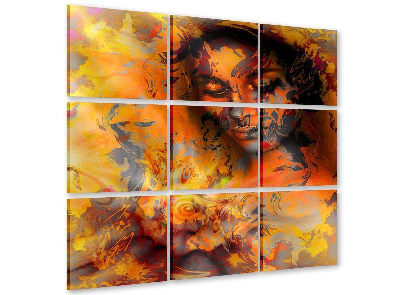 Acrylglasbild 9-teilig Geheimnisvolle Schönheit