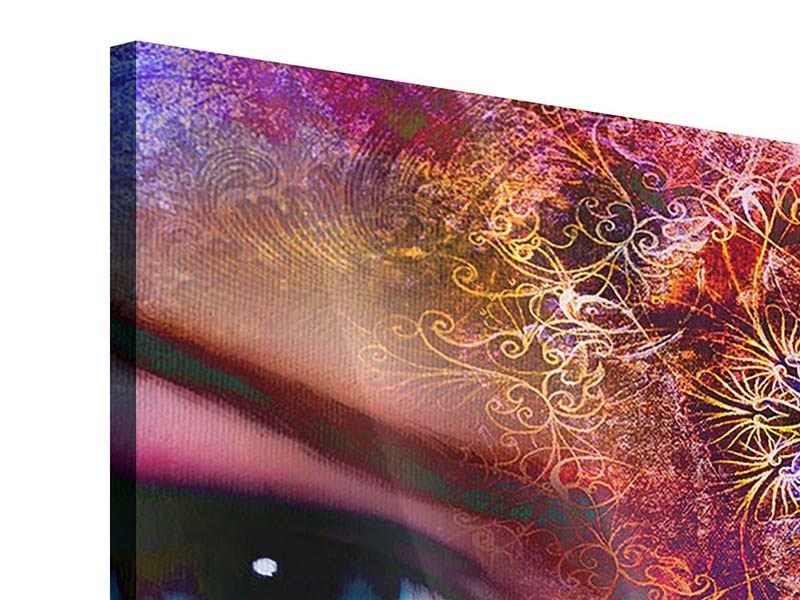 Acrylglasbild 9-teilig Psychedelic Face