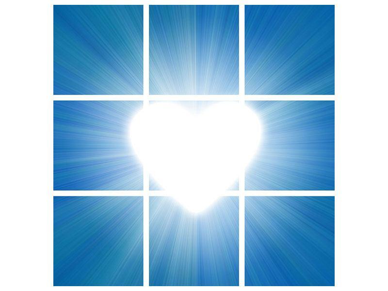 Acrylglasbild 9-teilig Himmelsherz