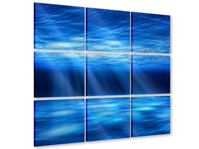 Acrylglasbild 9-teilig Licht unter Wasser