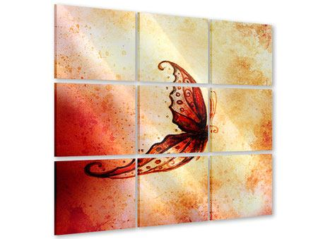 Acrylglasbild 9-teilig Butterfly Gemälde