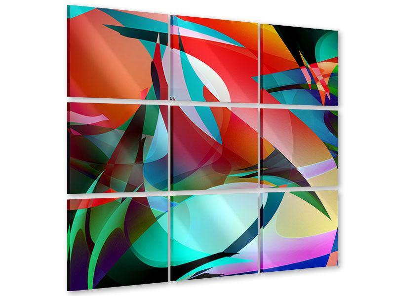 Acrylglasbild 9-teilig Paint