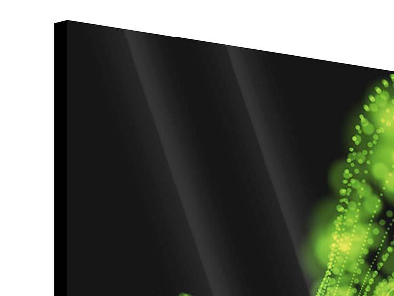 Acrylglasbild 9-teilig Grünes Lichterspiel