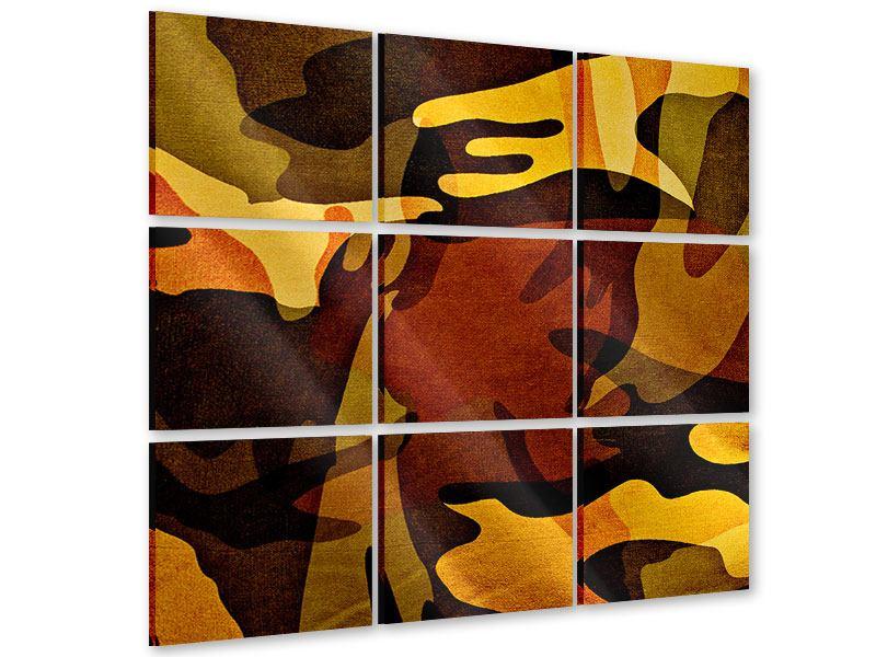Acrylglasbild 9-teilig Military