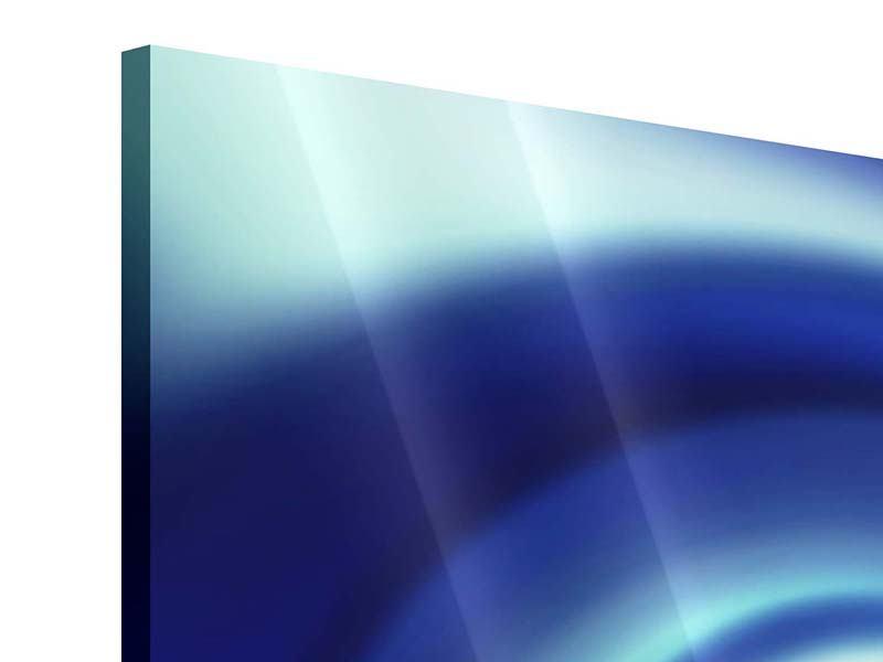 Acrylglasbild 9-teilig Abstrakte Blaue Wirbel