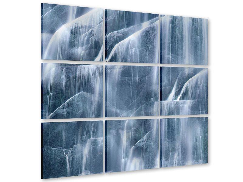 Acrylglasbild 9-teilig Waterfall