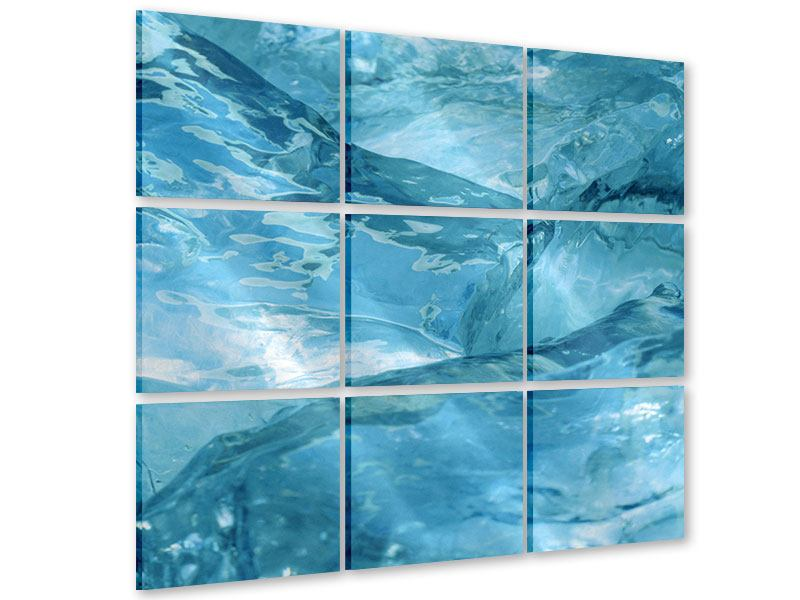 Acrylglasbild 9-teilig Cooler Eislook