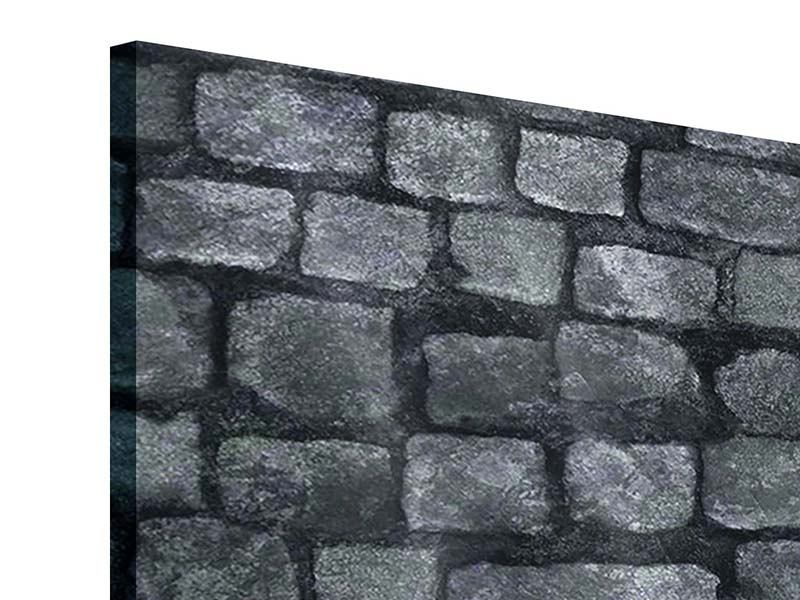 Acrylglasbild 9-teilig Graue Steinmauer