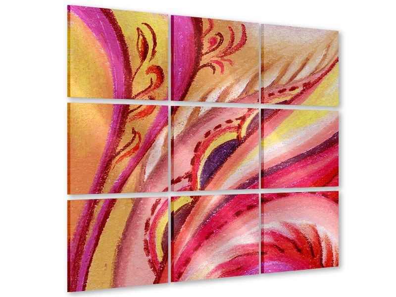 Acrylglasbild 9-teilig XL Paisley