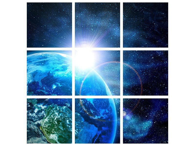 Acrylglasbild 9-teilig Galaxien