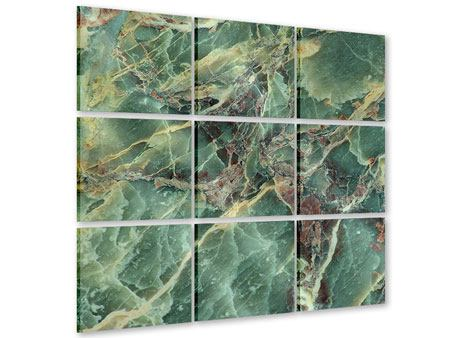 Acrylglasbild 9-teilig Marmor