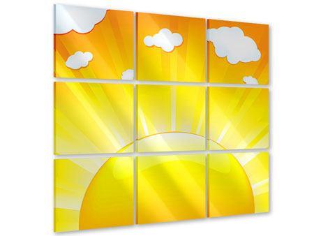 Acrylglasbild 9-teilig Die Sonne geht auf