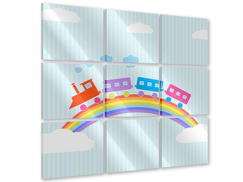 Acrylglasbild 9-teilig Der Regenbogenzug