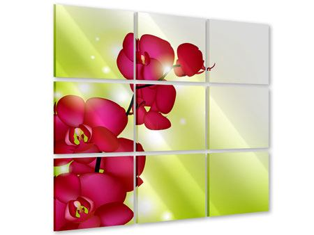 Acrylglasbild 9-teilig Heiligtum der Orchidee