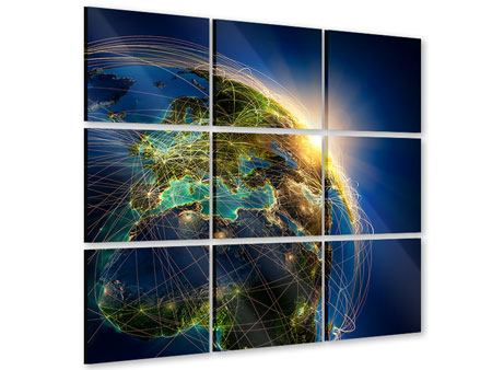 Acrylglasbild 9-teilig Der Planet Erde