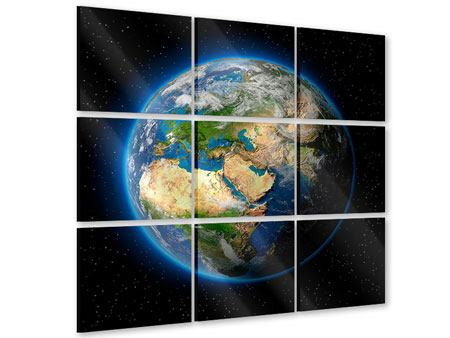 Acrylglasbild 9-teilig Die Erde als Planet