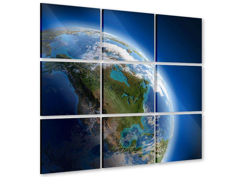 Acrylglasbild 9-teilig Die Erde