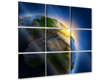 Acrylglasbild 9-teilig Sonne und Erde