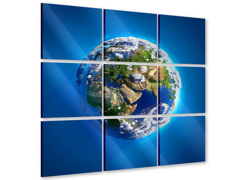 Acrylglasbild 9-teilig Planet Earth