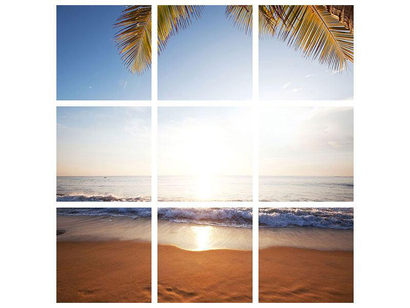 Acrylglasbild 9-teilig Figuren im Sand