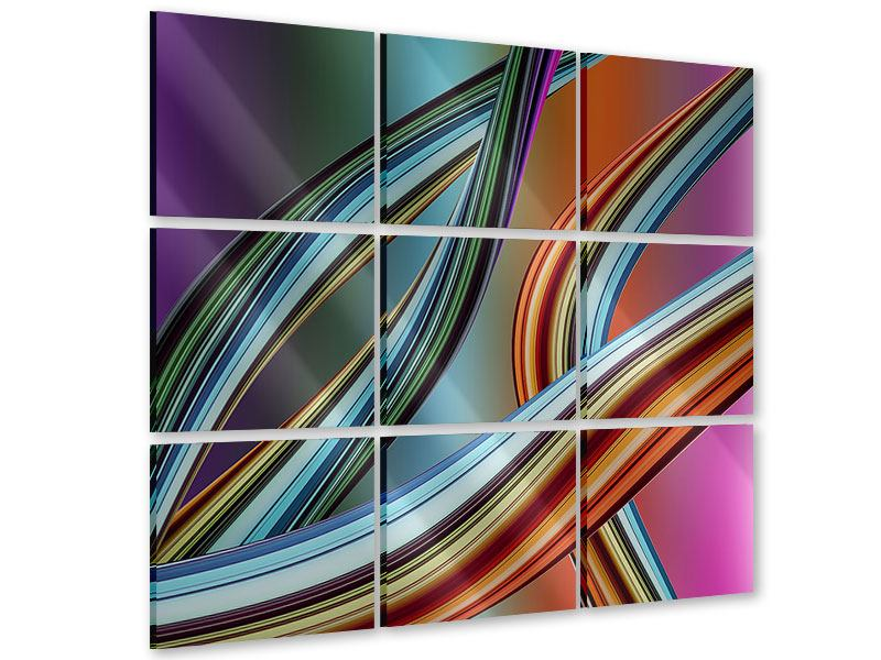 Acrylglasbild 9-teilig Wellengleich