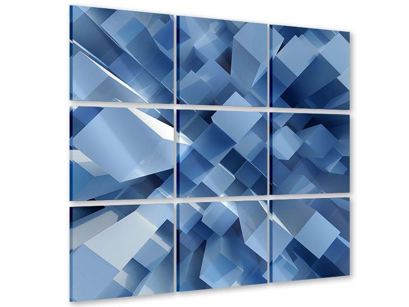 Acrylglasbild 9-teilig 3D-Säulen