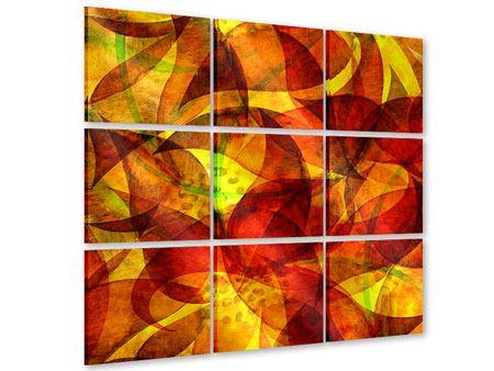 Acrylglasbild 9-teilig Abstraktes Gemälde