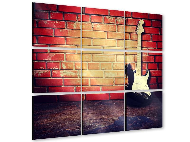 Acrylglasbild 9-teilig E-Gitarre