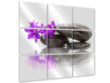 Acrylglasbild 9-teilig Feng Shui Steine