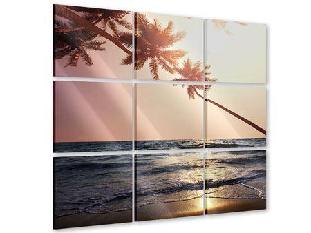 Acrylglasbild 9-teilig Am Meer