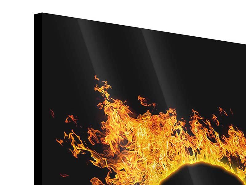 Acrylglasbild 9-teilig Herzflamme