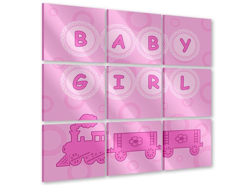 Acrylglasbild 9-teilig Baby-Girl