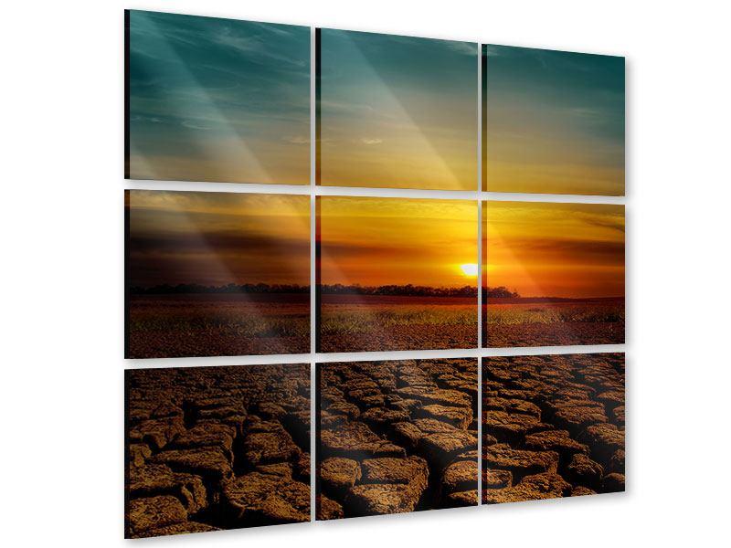 Acrylglasbild 9-teilig Afrikas Dürre