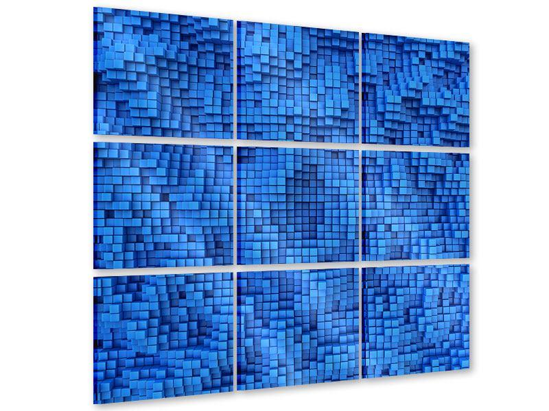 Acrylglasbild 9-teilig 3D-Mosaik