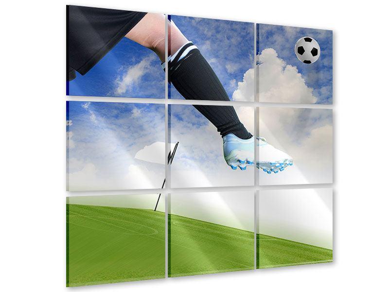 Acrylglasbild 9-teilig Fussball-Kicker