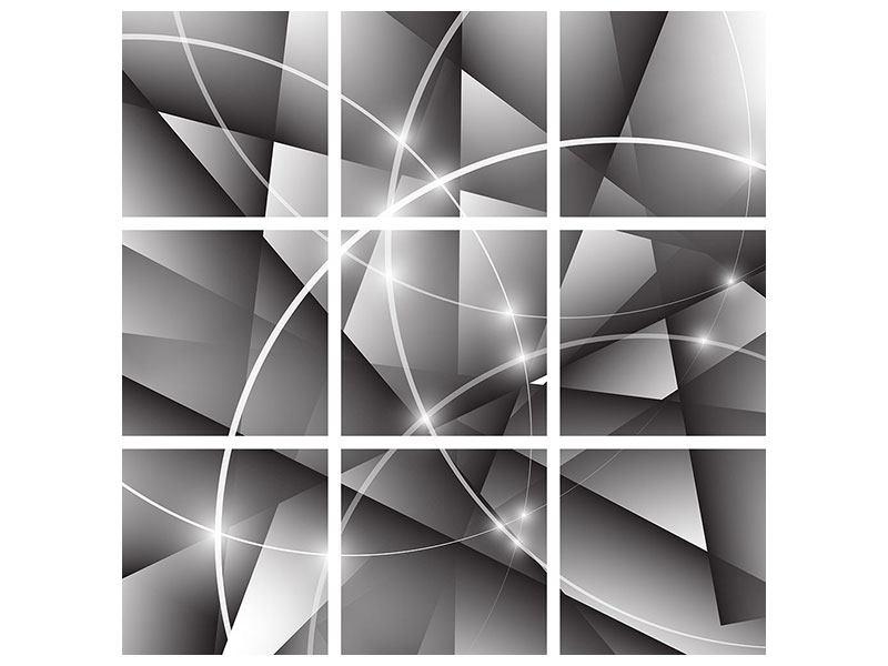 Acrylglasbild 9-teilig Geometrie