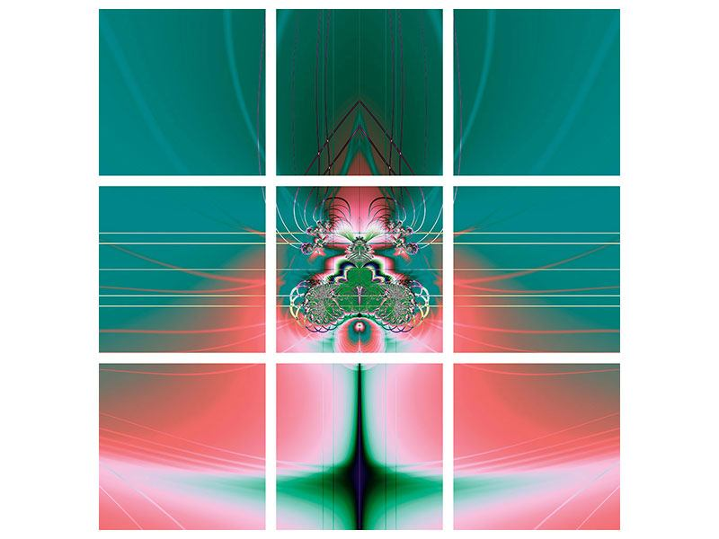 Acrylglasbild 9-teilig Fever