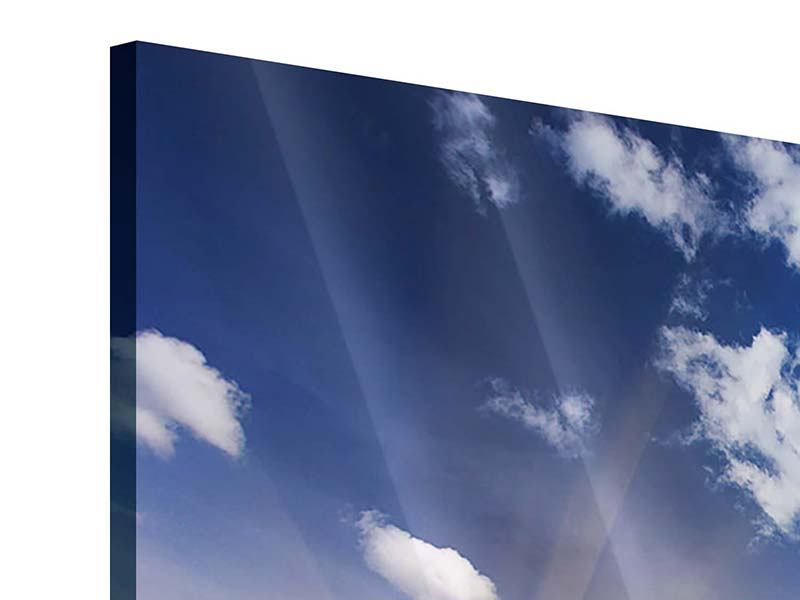 Acrylglasbild 9-teilig Sonnenaufgang im Gebirge